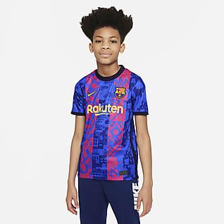 FC Barcelona 2021/22 Stadium Third Big Kids' Nike Dri-FIT Soccer Jersey