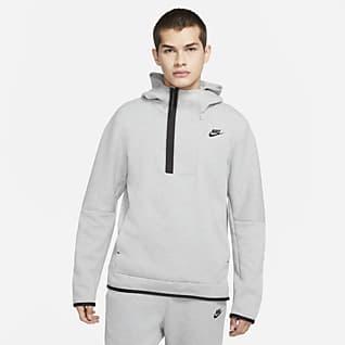 Nike Sportswear Tech Fleece Hettegenser med glidelås i halv lengde til herre