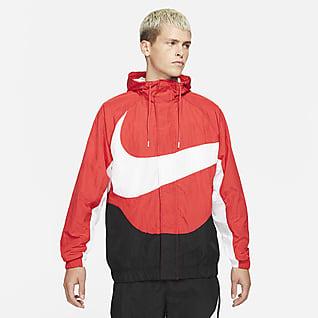 Nike Sportswear Swoosh Chamarra forrada de tejido Woven para hombre