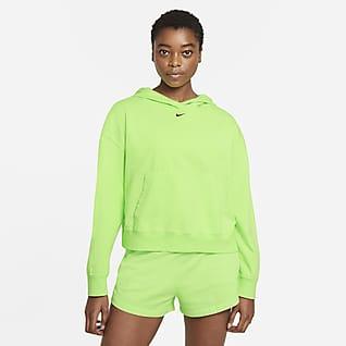Nike Sportswear Damska bluza z kapturem z efektem sprania