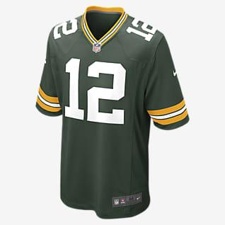 NFL Green Bay Packers (Aaron Rodgers) Męska koszulka meczowa do futbolu amerykańskiego