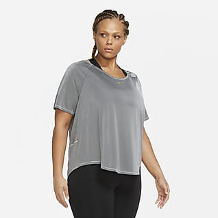 Nike Icon Clash Women's Short-Sleeve Running Top (Plus size)