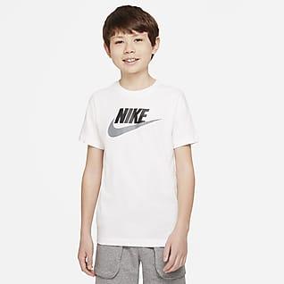 Nike Sportswear Βαμβακερό T-Shirt για μεγάλα παιδιά