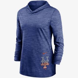 Nike Dri-FIT Split Legend (MLB New York Mets) Women's Long-Sleeve Hooded Training Top