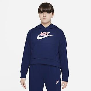 Nike Sportswear Club Fleece Big Kids' (Girls') Hoodie (Extended Size)