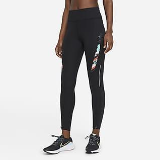 Nike Epic Fast Tokyo Женские слегка укороченные беговые леггинсы со средней посадкой