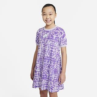ナイキ スポーツウェア ジュニア (ガールズ) プリンテッド ショートスリーブ ドレス