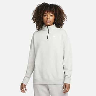 Nike Sportswear Çeyrek Fermuarlı Fleece Kadın Üstü