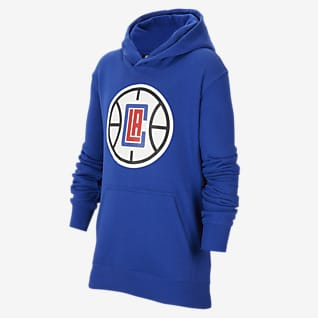 Λος Άντζελες Κλίπερς Essential Μπλούζα με κουκούλα Nike NBA για μεγάλα παιδιά