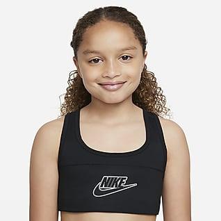 Nike Dri-FIT Swoosh Αθλητικός στηθόδεσμος για μεγάλα κορίτσια