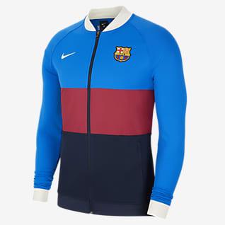 FC Barcelona Tam Boy Fermuarlı Erkek Futbol Antrenman Ceketi