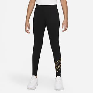Nike Sportswear Favorites Leggings med grafik til større børn (piger)