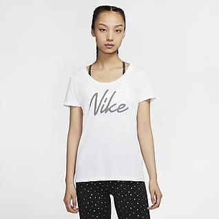 ナイキ Dri-FIT ウィメンズ ロゴ トレーニング Tシャツ