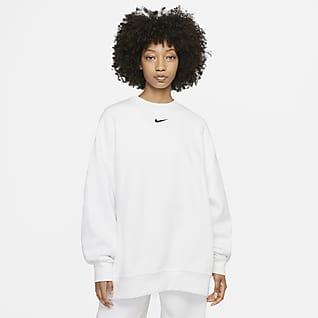 Nike Sportswear Collection Essentials Γυναικείο φλις crew σε εξαιρετικά φαρδιά γραμμή