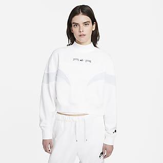 Nike Air Fleecetröja med ståkrage för kvinnor