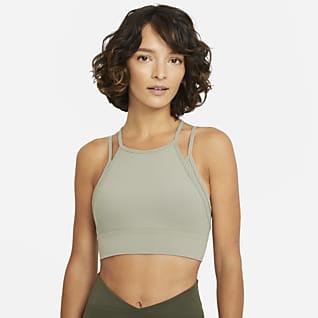 Nike Yoga Dri-FIT Indy Enyhe tartást adó, párnázott, hosszított női sportmelltartó