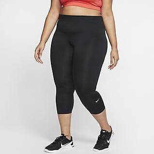 Nike One Korte leggings med mellemhøj talje til kvinder (plus size)