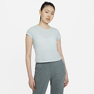 Nike Yoga Dri-FIT เสื้อแขนสั้นผู้หญิง