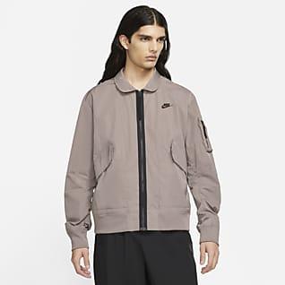 Nike Sportswear Premium Essentials Ofodrad bomberjacka med huva M65 för män