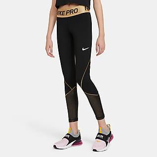 Nike Pro Warm Träningstights för tjejer