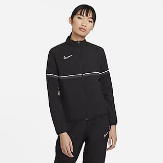 Nike Dri-FIT Academy Chamarra de entrenamiento de fútbol de tejido Woven para mujer