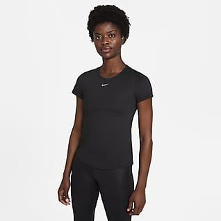 Nike Dri-FIT One Kortärmad tröja med smal passform för kvinnor