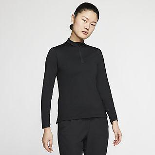 Nike Dri-FIT UV Victory Women's Long-Sleeve 1/2-Zip Golf Top