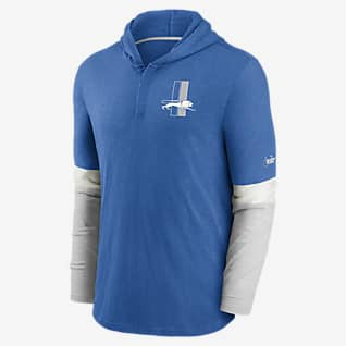 Nike Historic (NFL Lions) Men's Long-Sleeve Hooded Henley