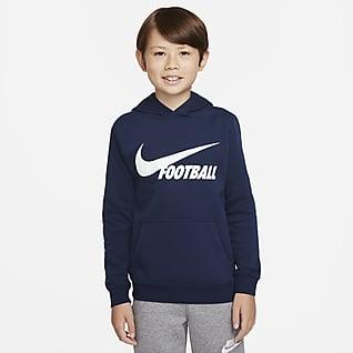 Nike Swoosh Sudadera con gorro para niños talla grande
