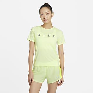 Nike Miler Run Division Женская беговая футболка с коротким рукавом