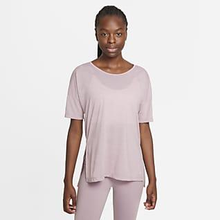 Nike Yoga Top a manica corta - Donna