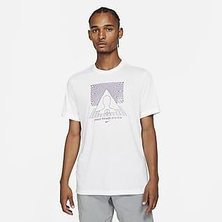 Nike Yoga Dri-FIT T-shirt med tryck för män