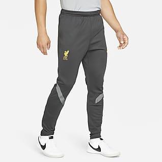 Liverpool FC Strike Męskie dresowe spodnie piłkarskie z dzianiny Nike Dri-FIT