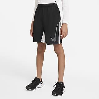 Nike Dri-FIT Träningsshorts Graphic för ungdom (killar)