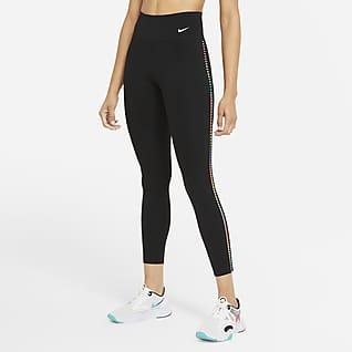 Nike One Rainbow Ladder Leggings i 7/8-längd med mellanhög midja för kvinnor