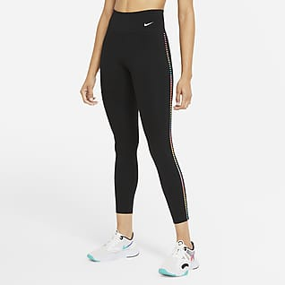 Nike One Rainbow Ladder Leggings de 7/8 de talle medio - Mujer