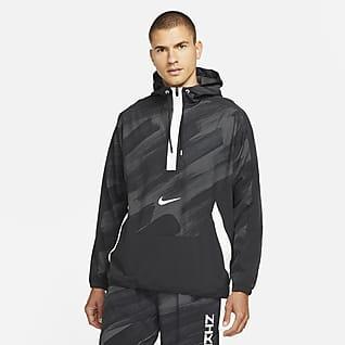 Nike Dri-FIT Sport Clash Sweat à capuche de training tissé à demi-zip pour Homme