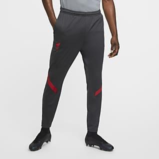 Liverpool FC Strike Męskie dresowe spodnie piłkarskie z dzianiny