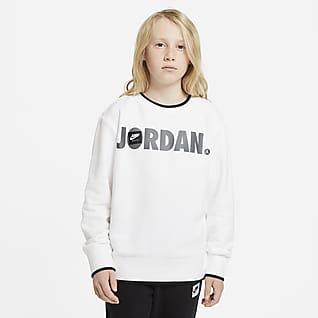Jordan Kerek nyakkivágású pulóver nagyobb gyerekeknek (fiúk)