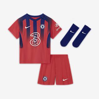 Terceiro equipamento Chelsea FC 2020/21 Equipamento de futebol para bebé