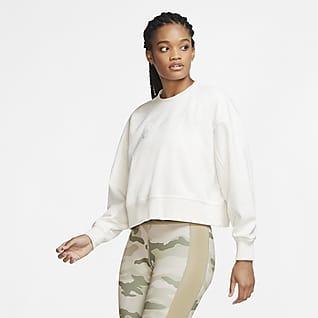 Nike Dri-FIT Get Fit Γυναικείο crew προπόνησης με σχέδιο Swoosh