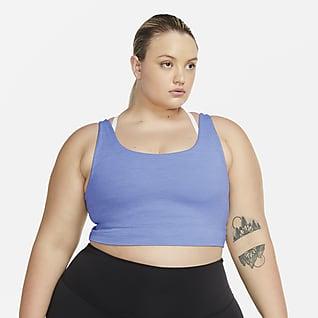 Nike Yoga Luxe Camiseta de tirantes corta para mujer de Infinalon (talla grande)