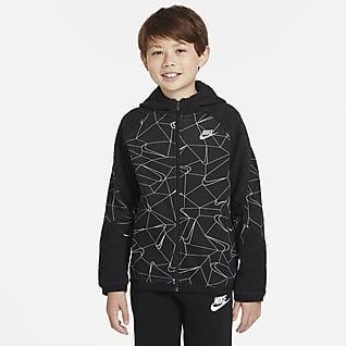Nike Sportswear Club Mikina skapucí adlouhým zipem do každého počasí pro větší děti (chlapce)