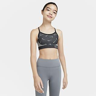 Nike Indy Спортивное бра для девочек школьного возраста