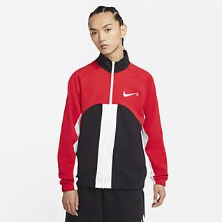 Nike Sportswear Swoosh 男子全长拉链开襟针织夹克