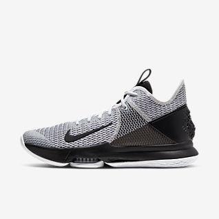 White LeBron James Sko. Nike DK