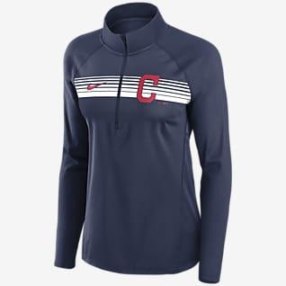 Nike Dri-FIT Element (MLB Cleveland) Women's 1/2-Zip Pullover