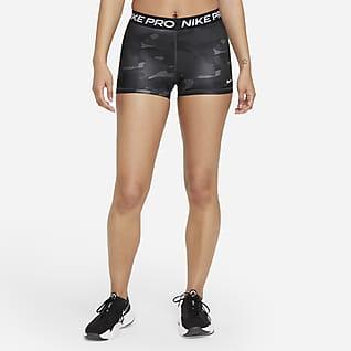 Nike Pro Dri-FIT Calções camuflados de 7,5cm para mulher