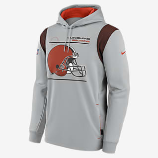 Nike Therma Sideline (NFL Cleveland Browns) Men's Pullover Hoodie