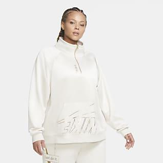 Nike Sportswear Prenda con cierre de 1/4 de tejido Fleece para mujer Nike Sportswear (talla grande)